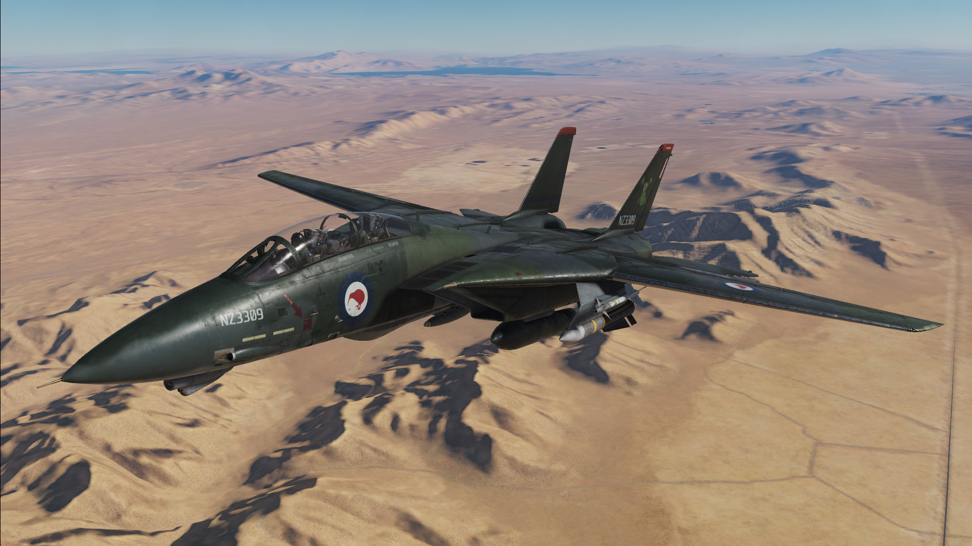 Fictional RNZAF (Royal New Zealand Airforce) F-14B - 75 Squadron