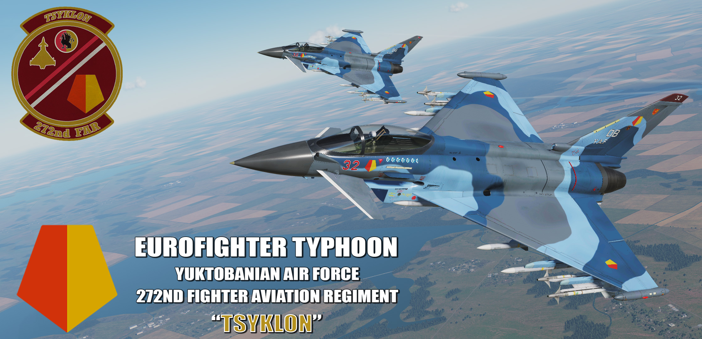 "Ace Combat - Yuktobanian Air Force 272nd Fighter Aviation Regiment ""Tsyklon"" Eurofighter Typhoon"