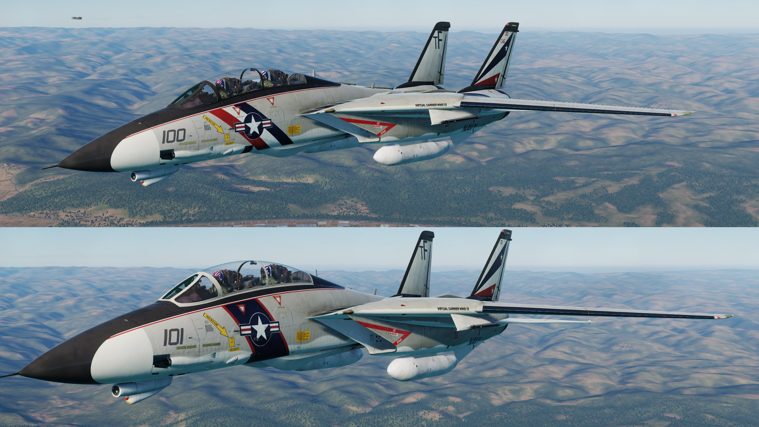 Virtual Carrier Wing 13 (VCW13) VF-68 Black Sabers High Visibility Livery Part 1