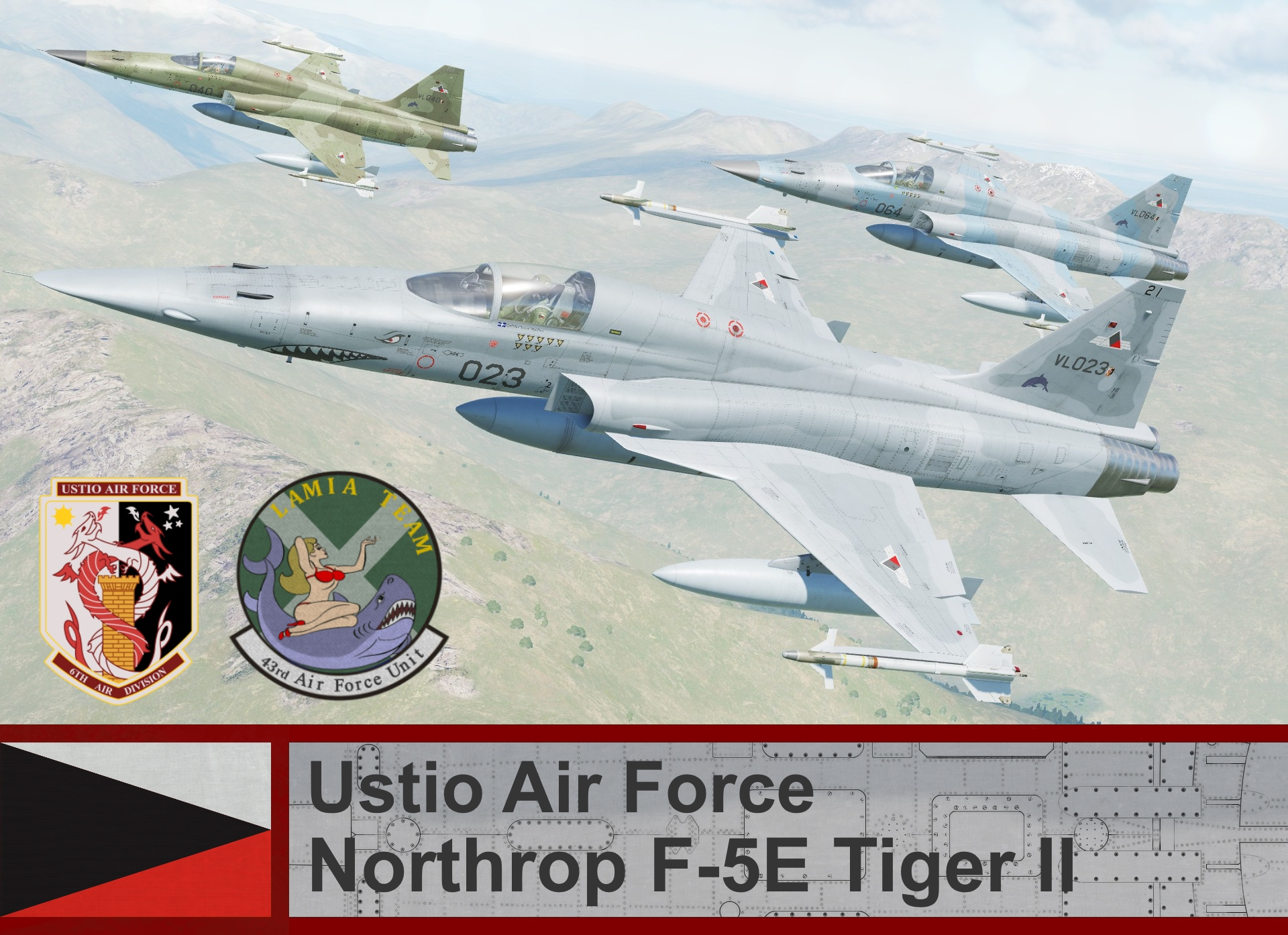 Ustio Air Force F-5E3 - Ace Combat Zero (43rd AFU)