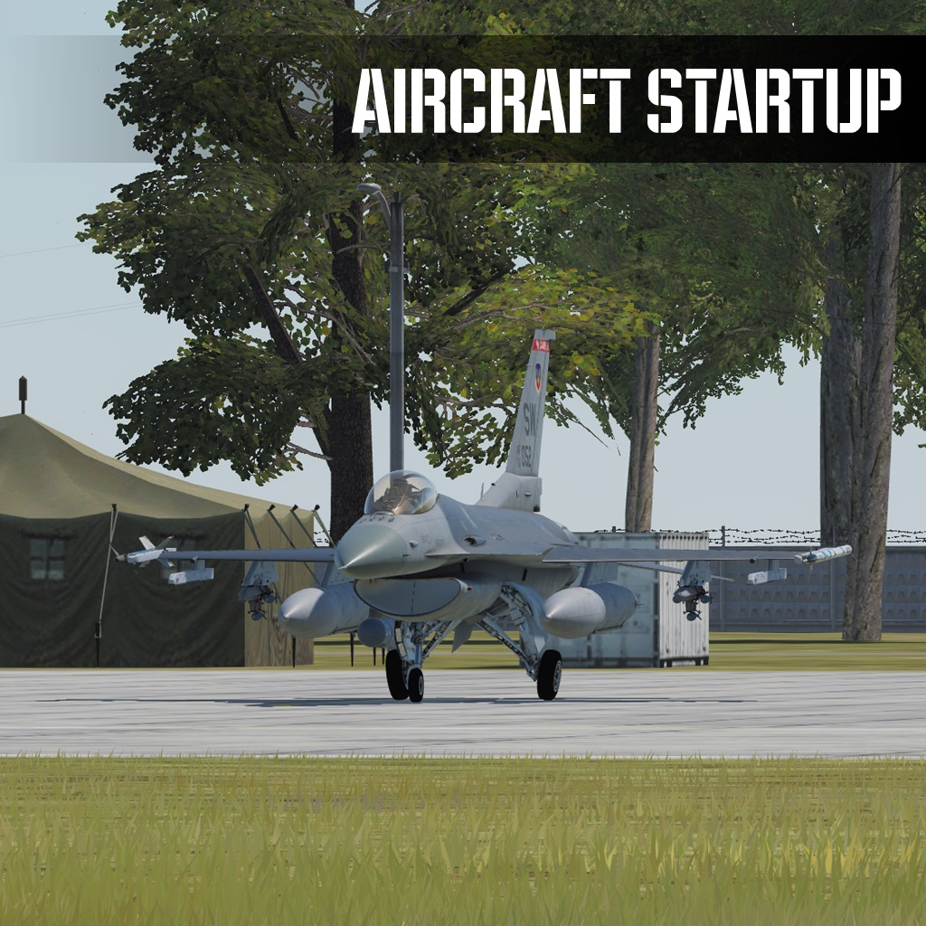 DCS F-16C Viper Training Missions CN - Aircraft Startup