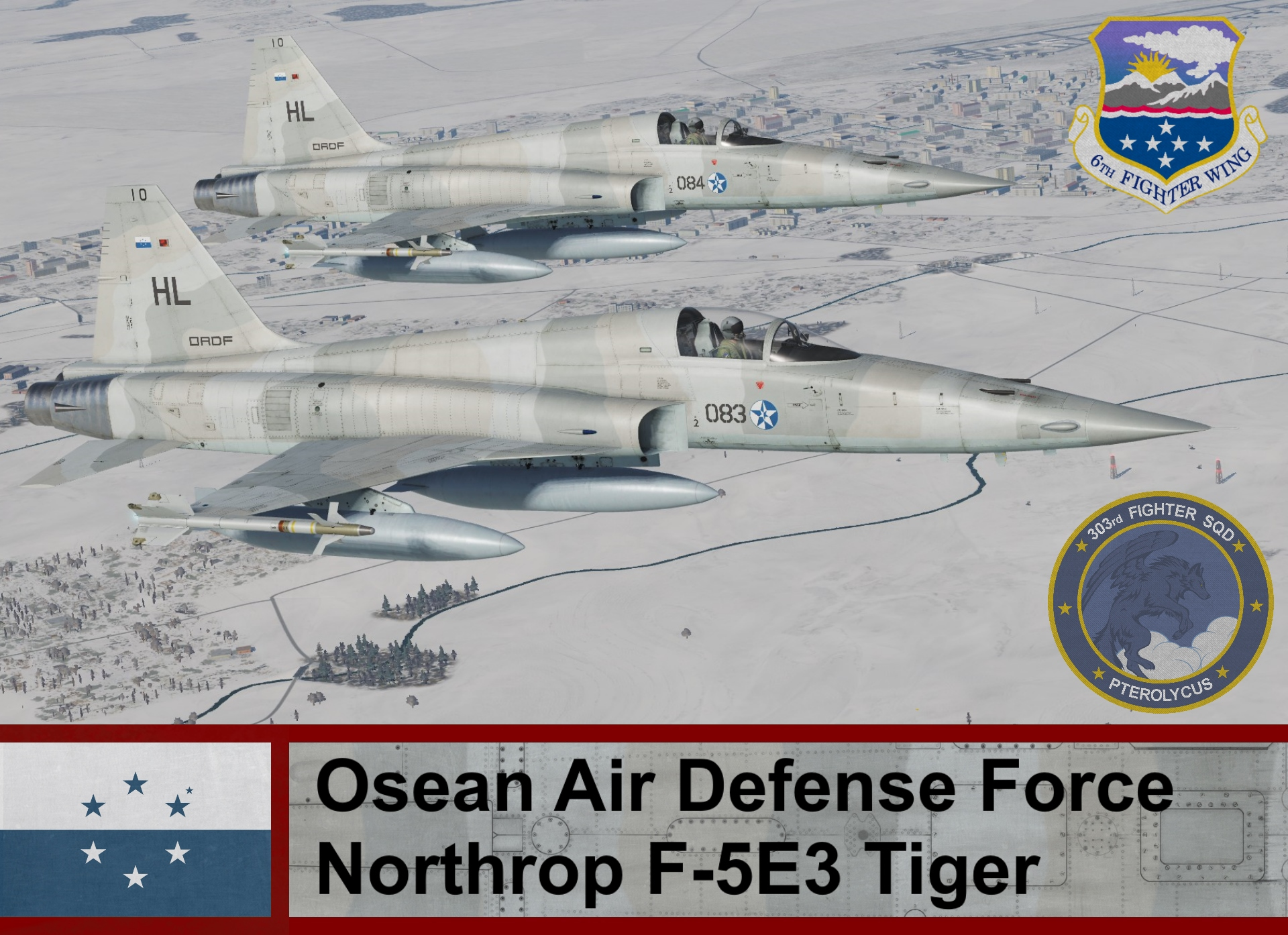 Osean Air Defense Force F-5E3 Tiger, Ace Combat (303rd TFS)