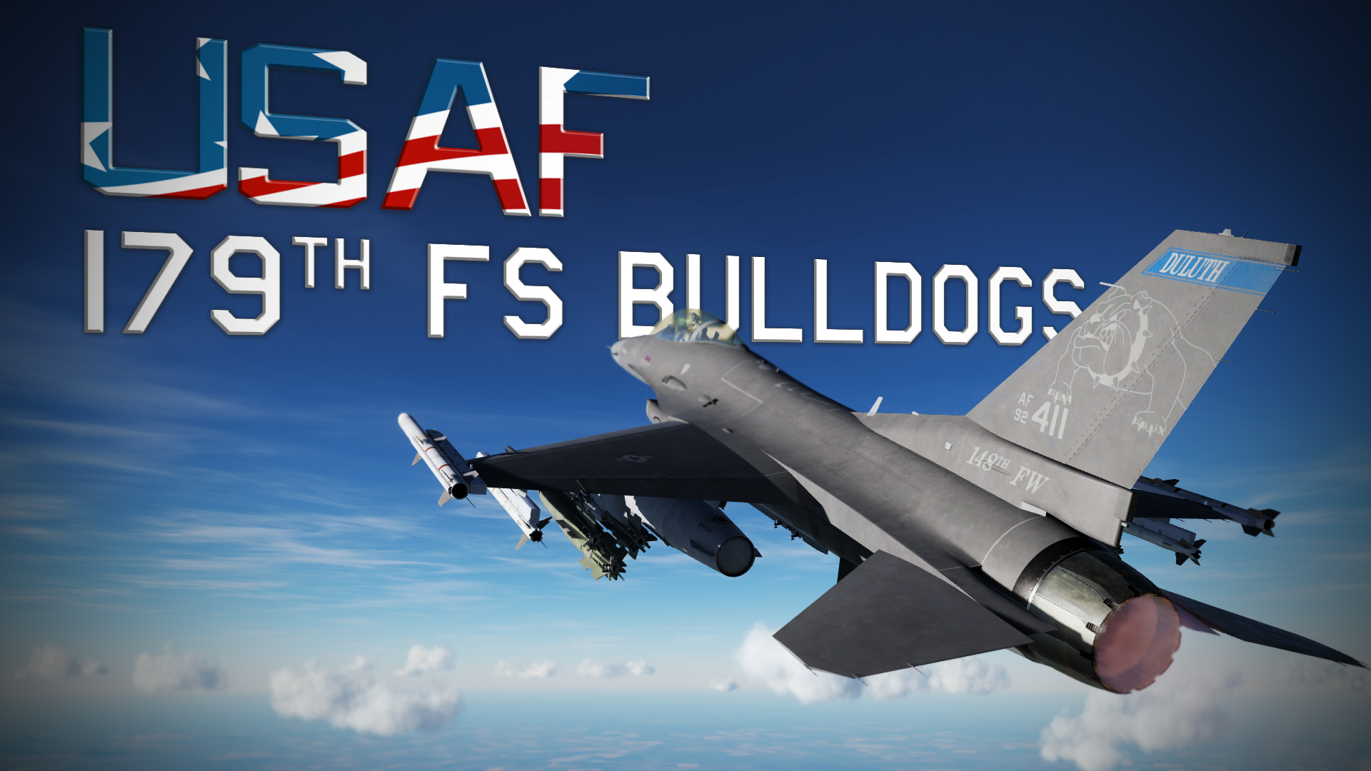 "USAF 179th FS ""Bulldogs"" Have Glass - F-16C (semi-clean)"