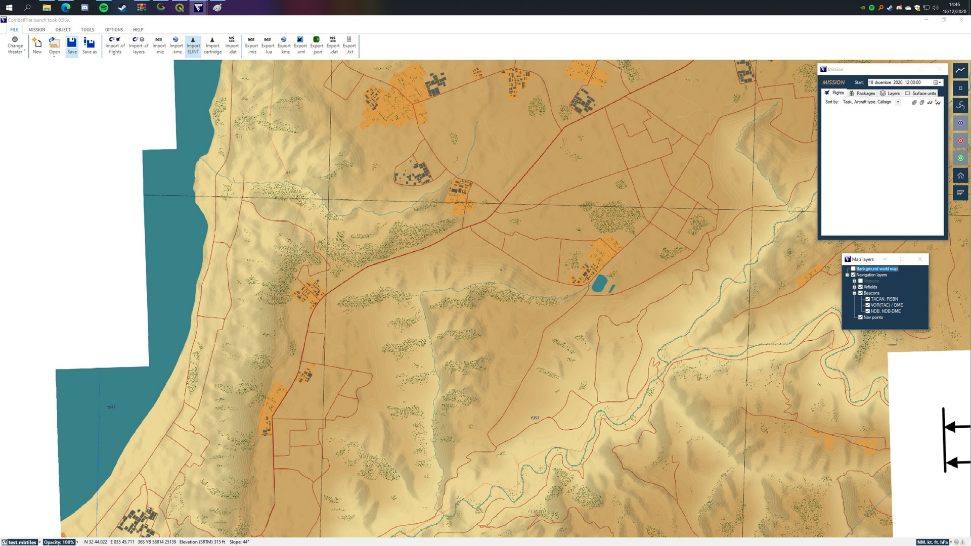 Golan Heights - Combat Flite - High resolution maps