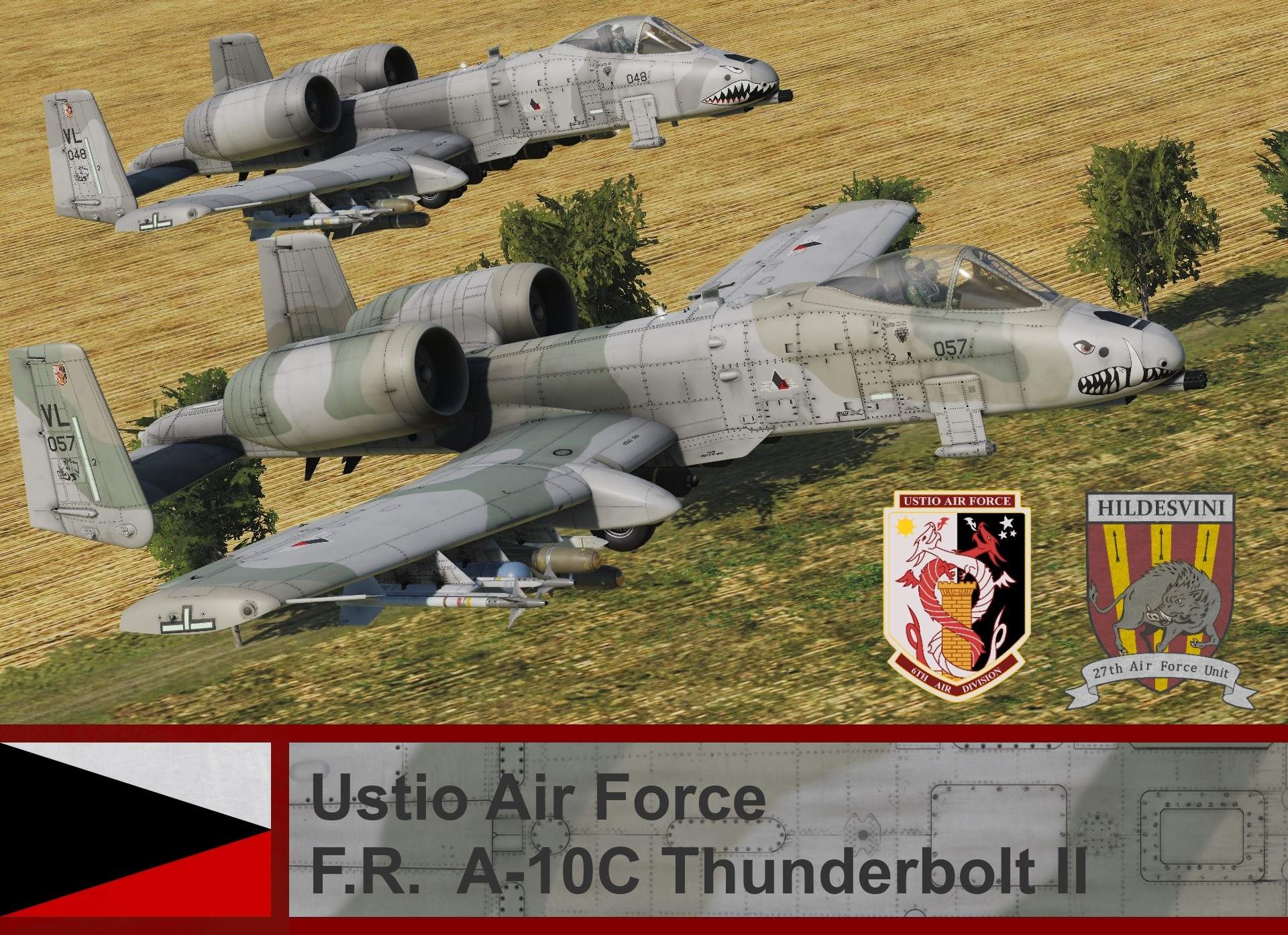Ustio Air Force A-10C - Ace Combat Zero (27th AFU)