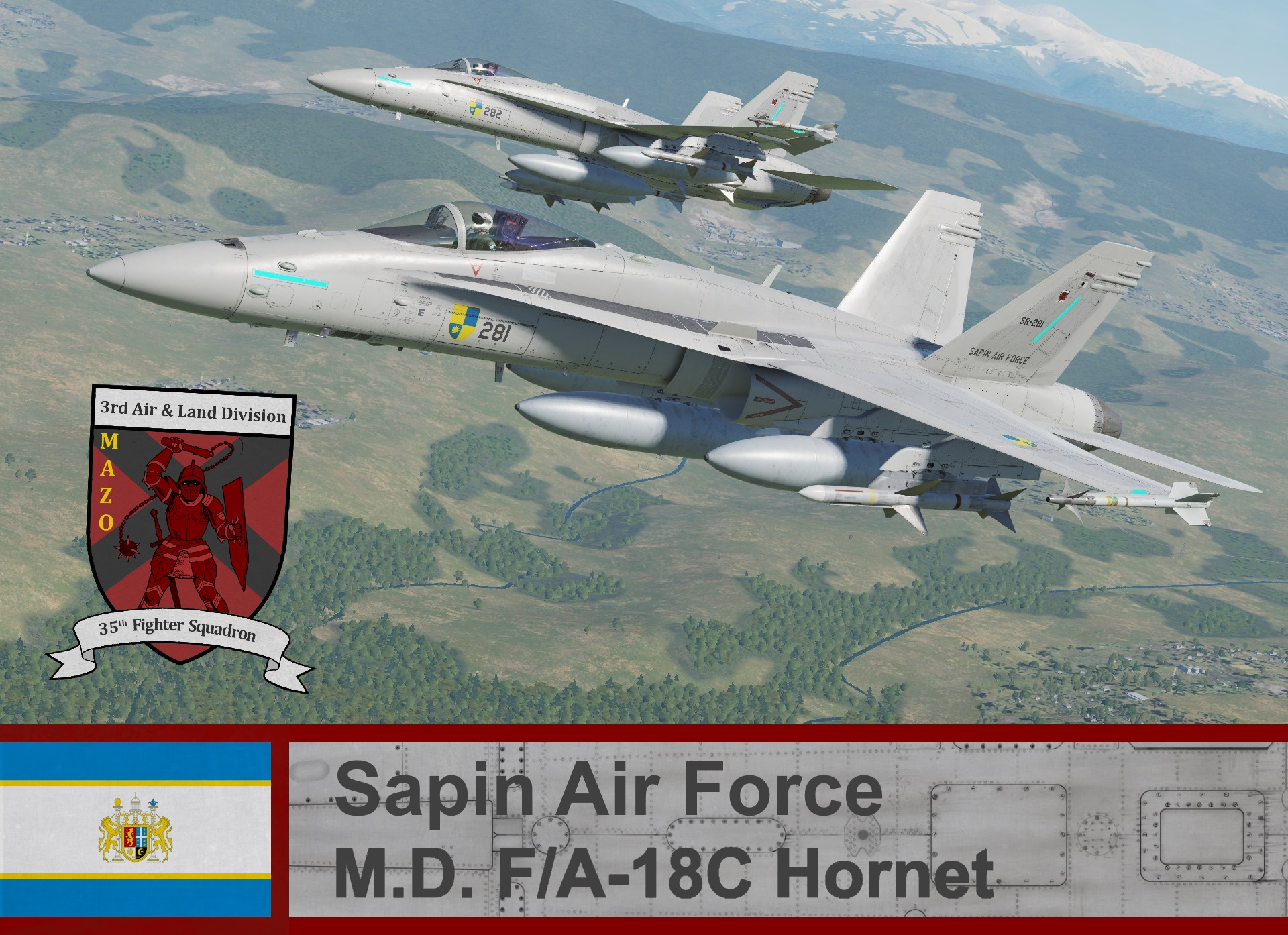 Sapin Air Force F/A-18C Hornet- Ace Combat Zero (35th FS)