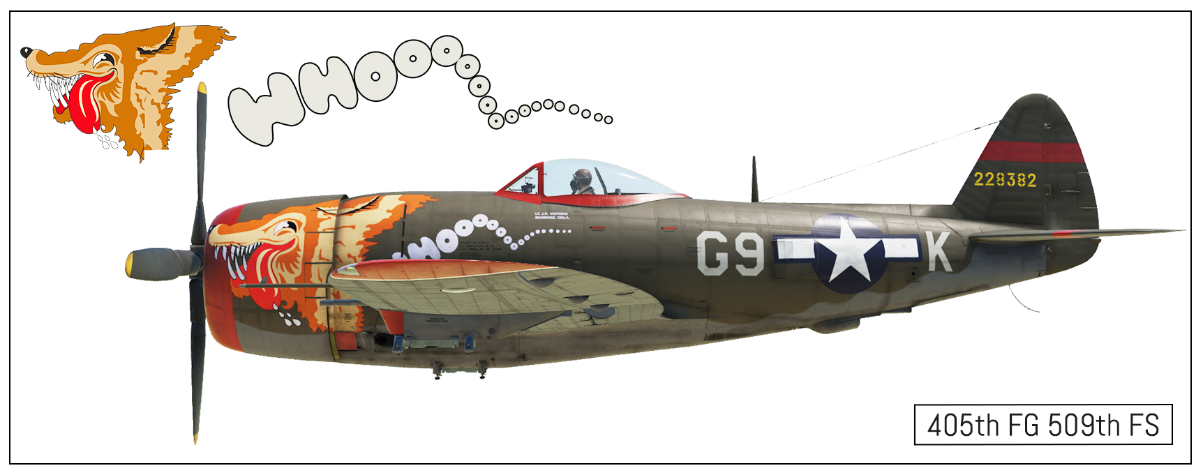 "P-47D 405th FG 509th FS, Belgium, 1945 ""Whoooo"" *(FINAL)*"