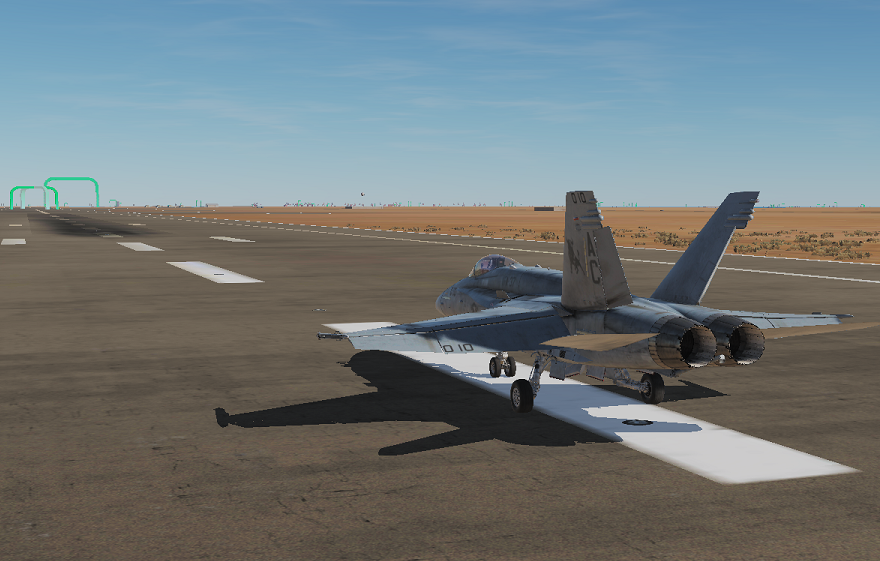F/A-18 Persian Gulf Speed/Obstacle/Training course
