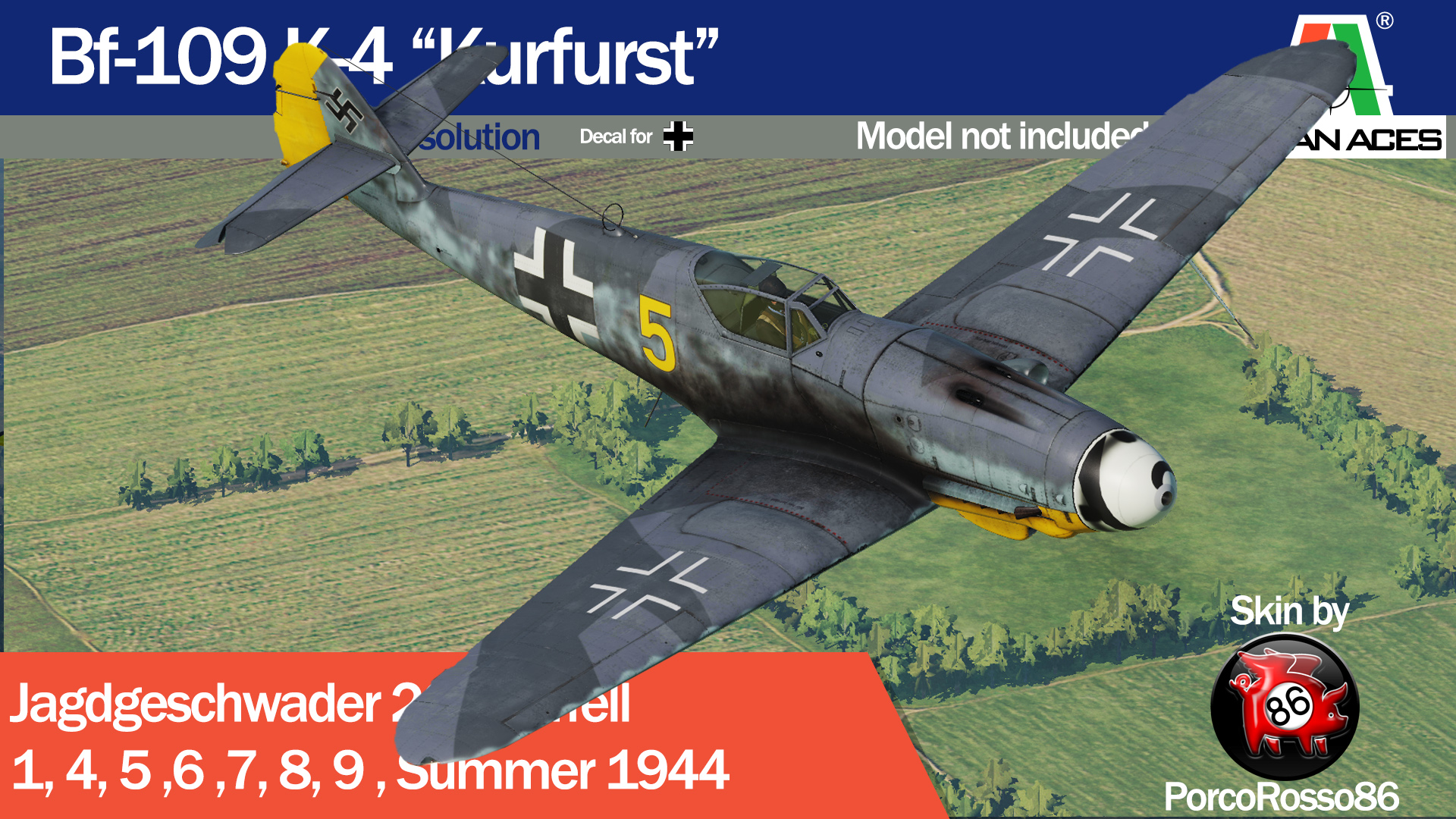 "Bf-109 K-4 ""Kurfurst"" Jg 26 Summer 1944, PACK Update"