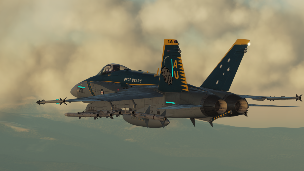 "RAAF F/A-18 ""Drop Bears"" livery CAG Bird by Rhino"