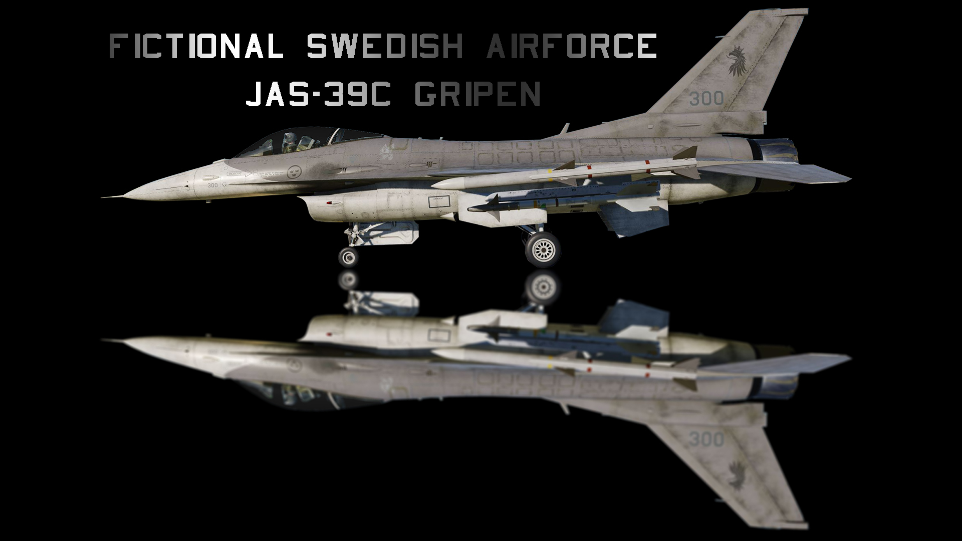 Fictional Swedish Airforce JAS-39C Gripen skin