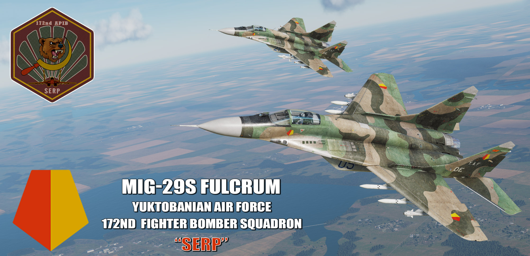 "Ace Combat - Yuktobanian Air Force 172nd Fighter Bomber Squadron ""Serp"" MiG-29S Fulcrum"