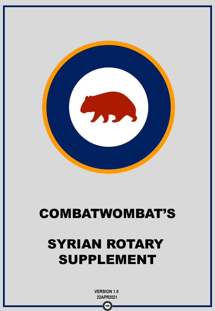 CombatWombat's Airfield Diagrams: Syrian Theatre - Rotary Supplement