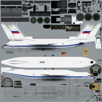 Texture template of Il-76MD model