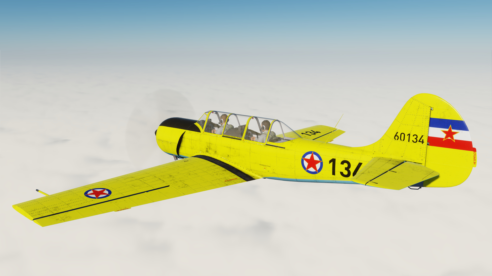 Yak-52 Yugoslavian Air Force Soko-522 Trainer Yellow