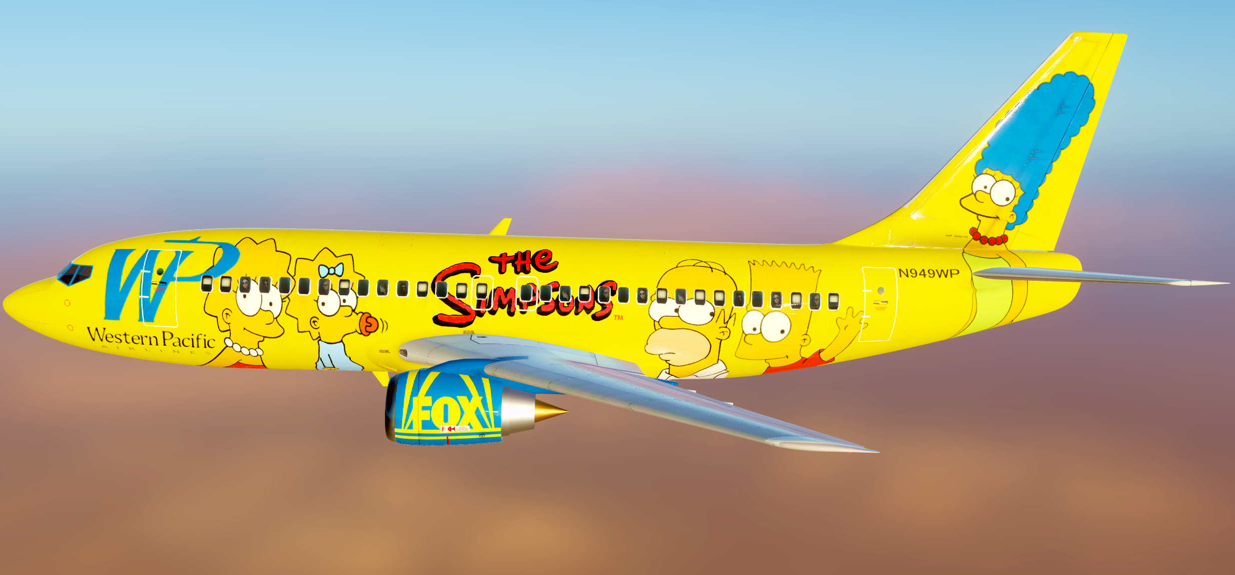 B-737 Western Pacific Airlines  'The Simpsons' N949WP