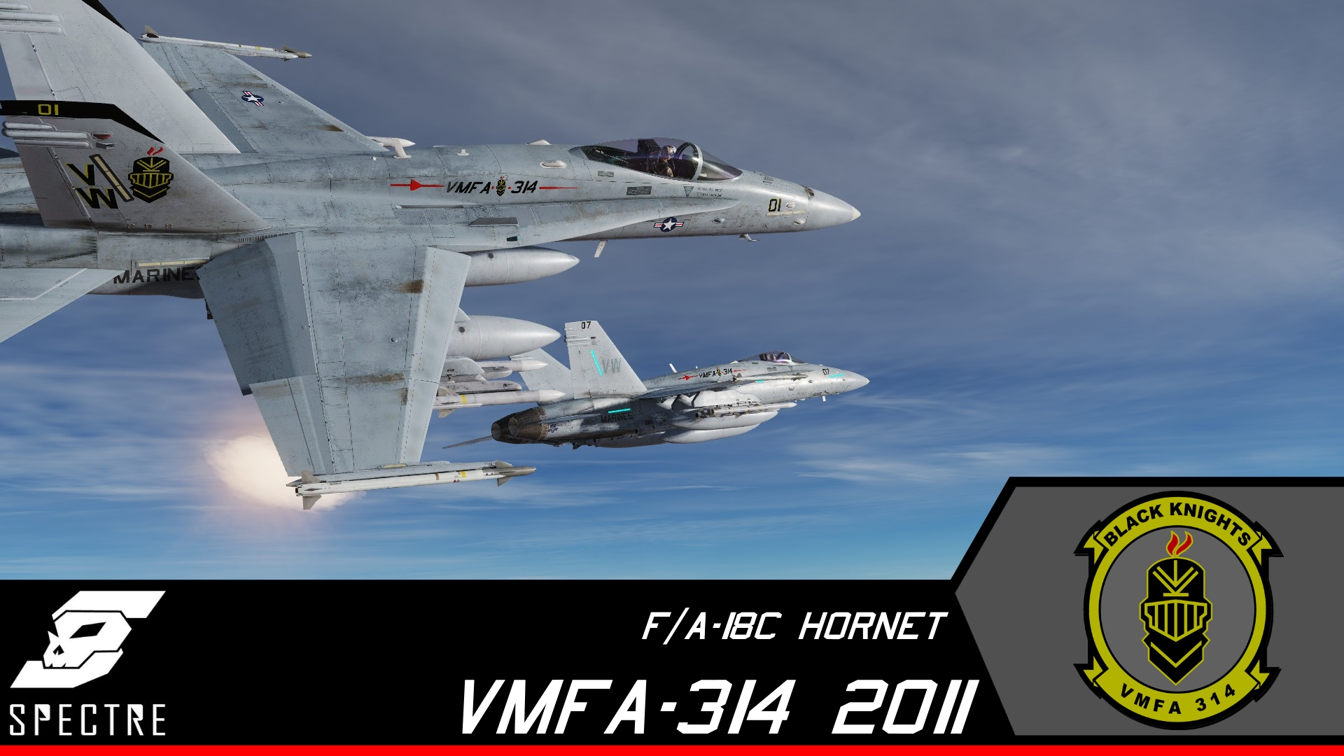 F/A-18A++ VMFA-314 Black Knights CAG and High Visibility *Updated*