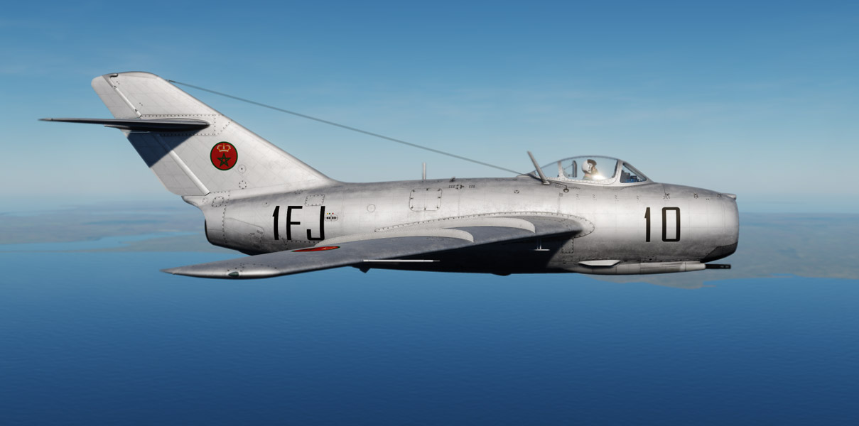MIG-15bis skin of the Moroccan Royal Air Force