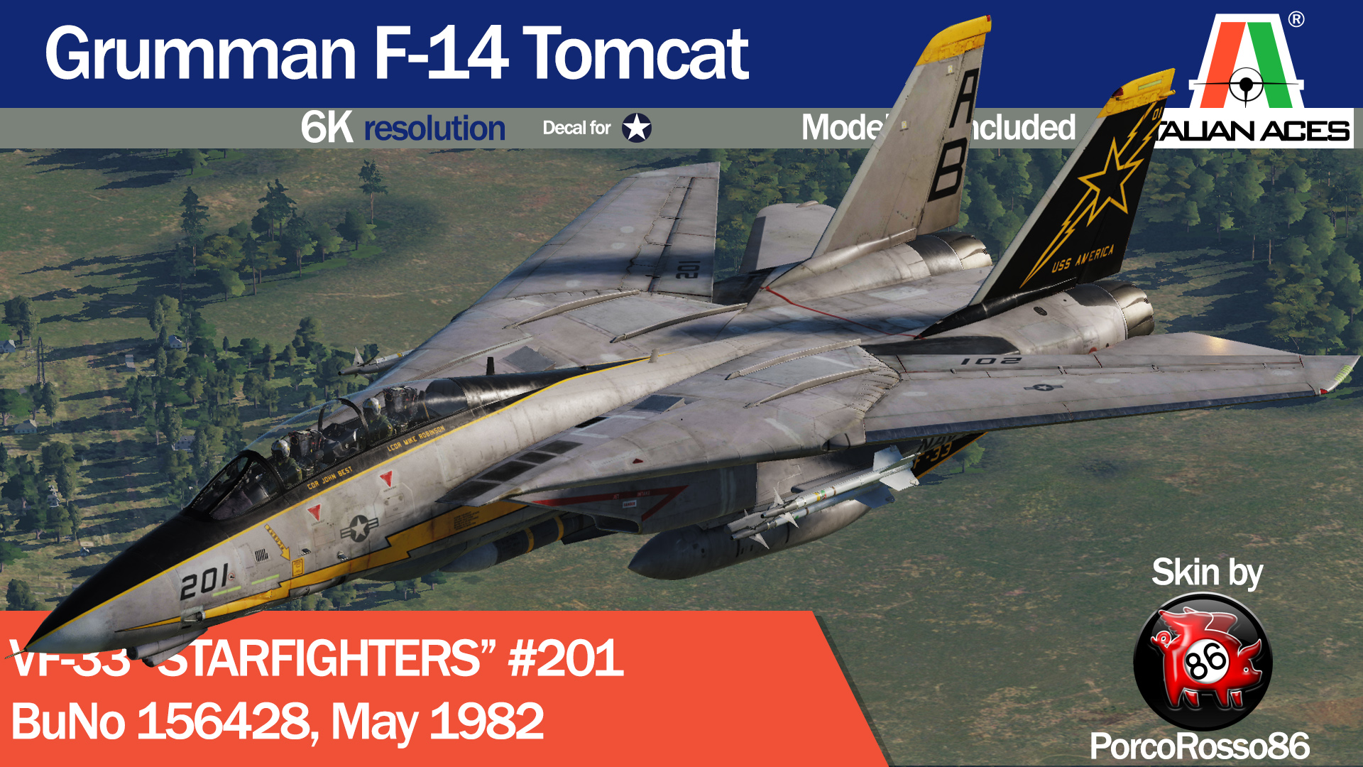 "F-14 VF-33 ""Starfighters"" #201 by PorcoRosso86"