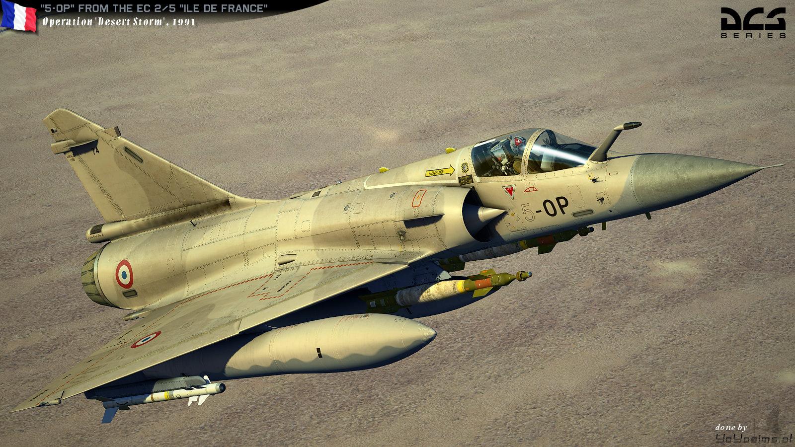 mirage 2000c repaint 5 op desert storm daguet operation 1991 v 5