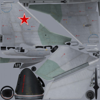 Texture template for MiG-29A model