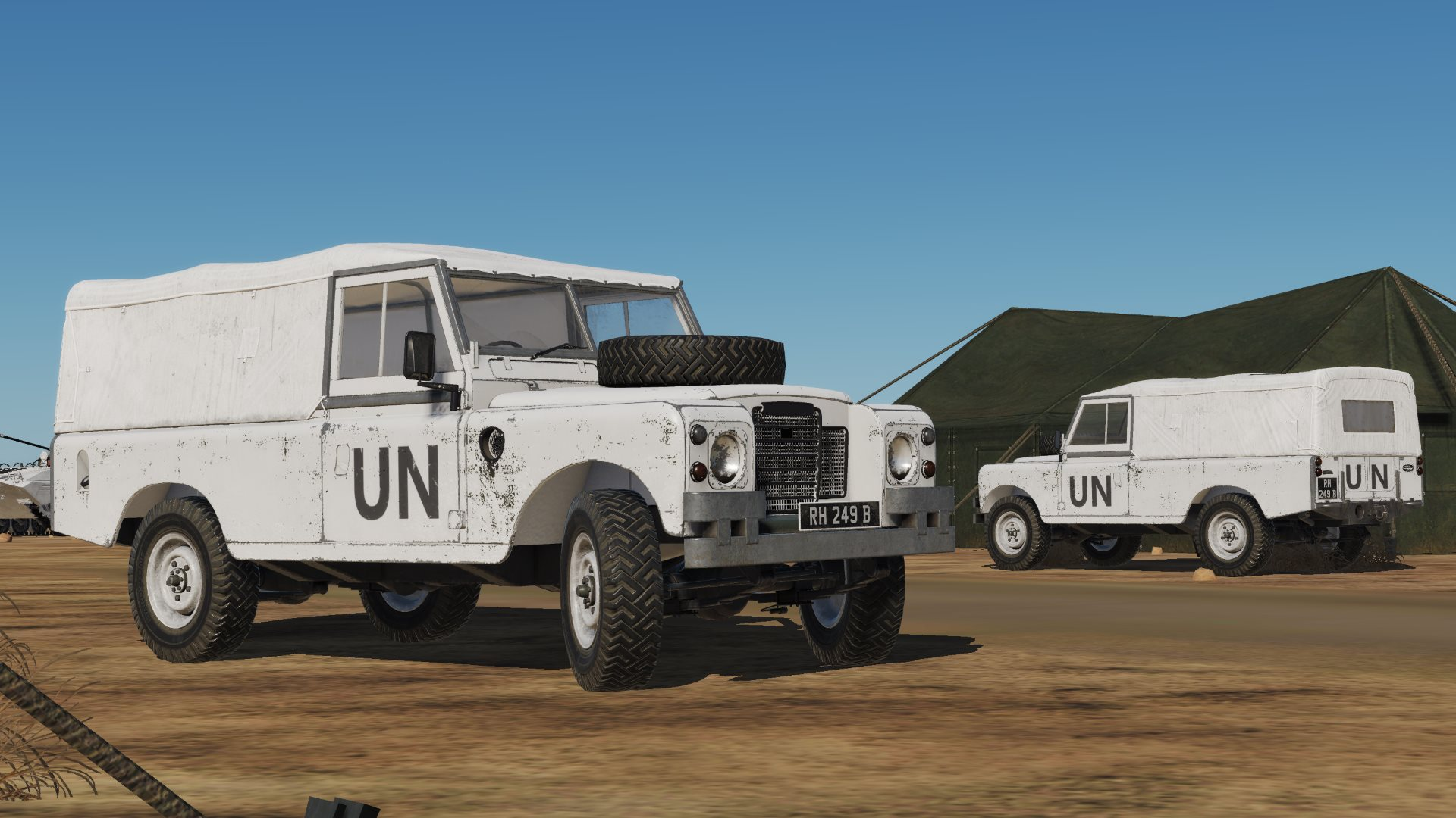 United Nations Land Rover Livery