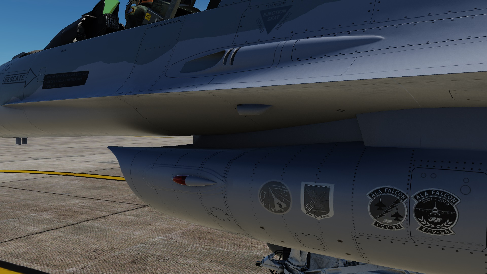 F-16C 50 Falcon BMS wing of the ECV 56 Condor (fictional) FIXED 2.5.6+ (TOTALLY NEW SKIN MADE WITH OFICIAL TEMPLATE)