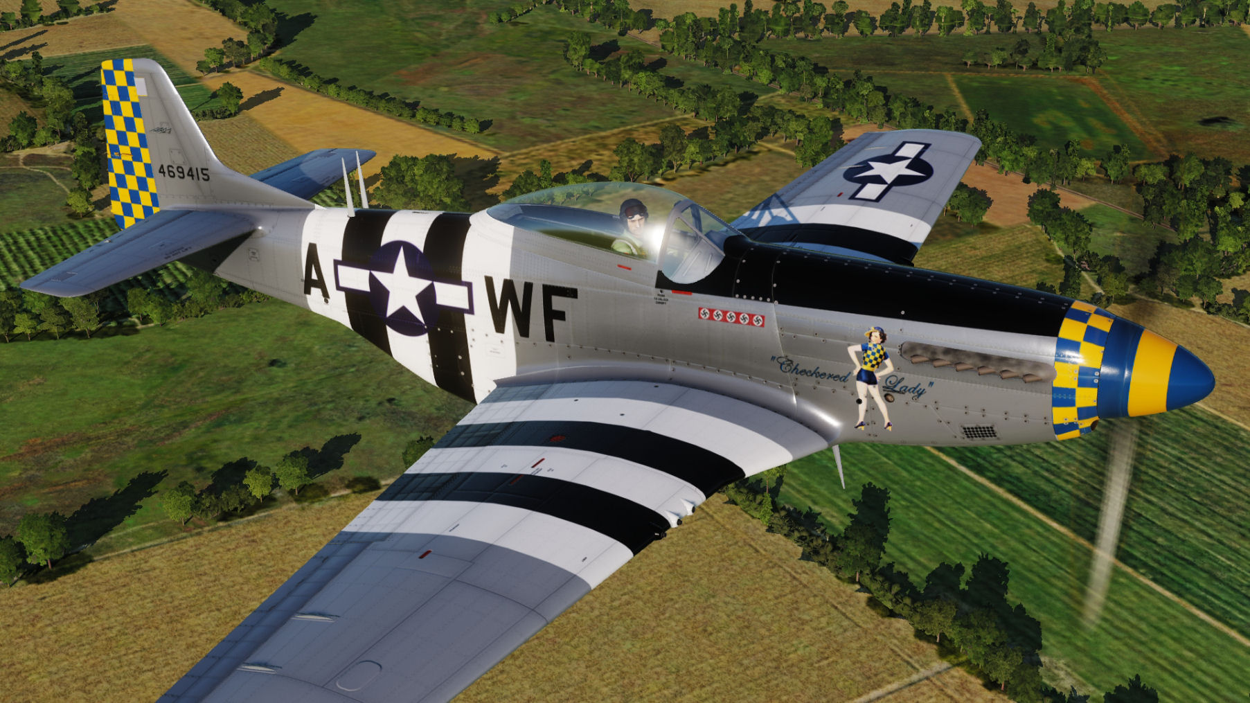 "USAF - ""Checkered Lady"" WF-A 44-69415 updated for DCS World 2.5.5"