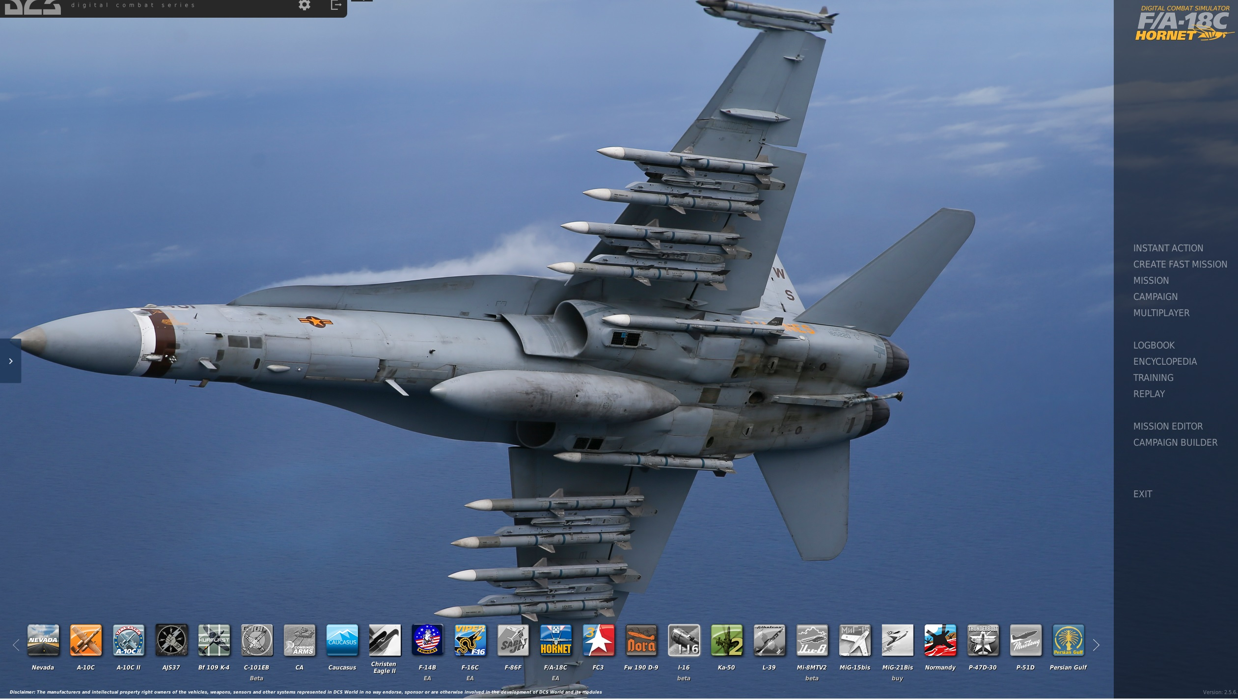 F/A-18C Menu Wallpaper (VMFA-323)