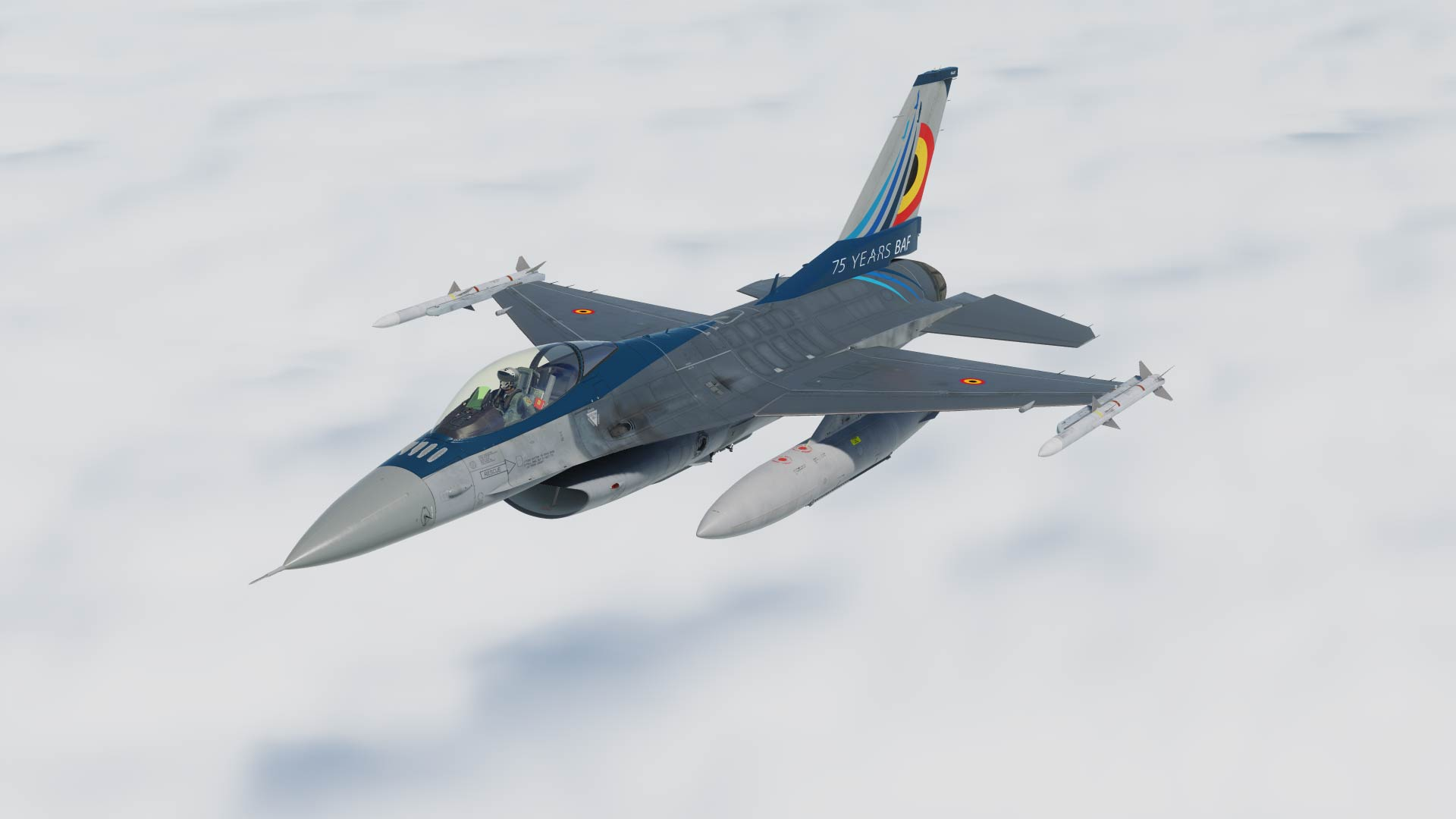 F-16 Belgian Air Force  FA-87 75th Years Anniversary