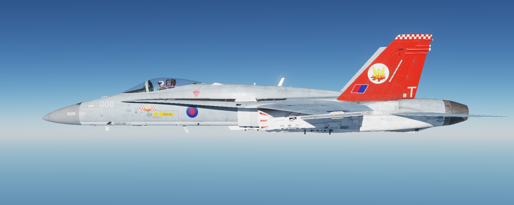 Royal Air Force Phantom inspired livery from 56 Squadron (1992)