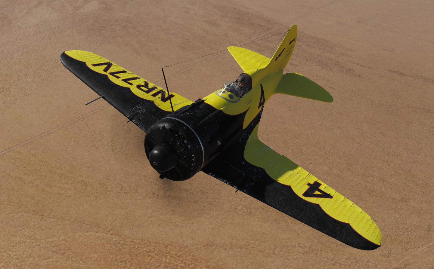 I-16 skin: Gee Bee Model Z racer