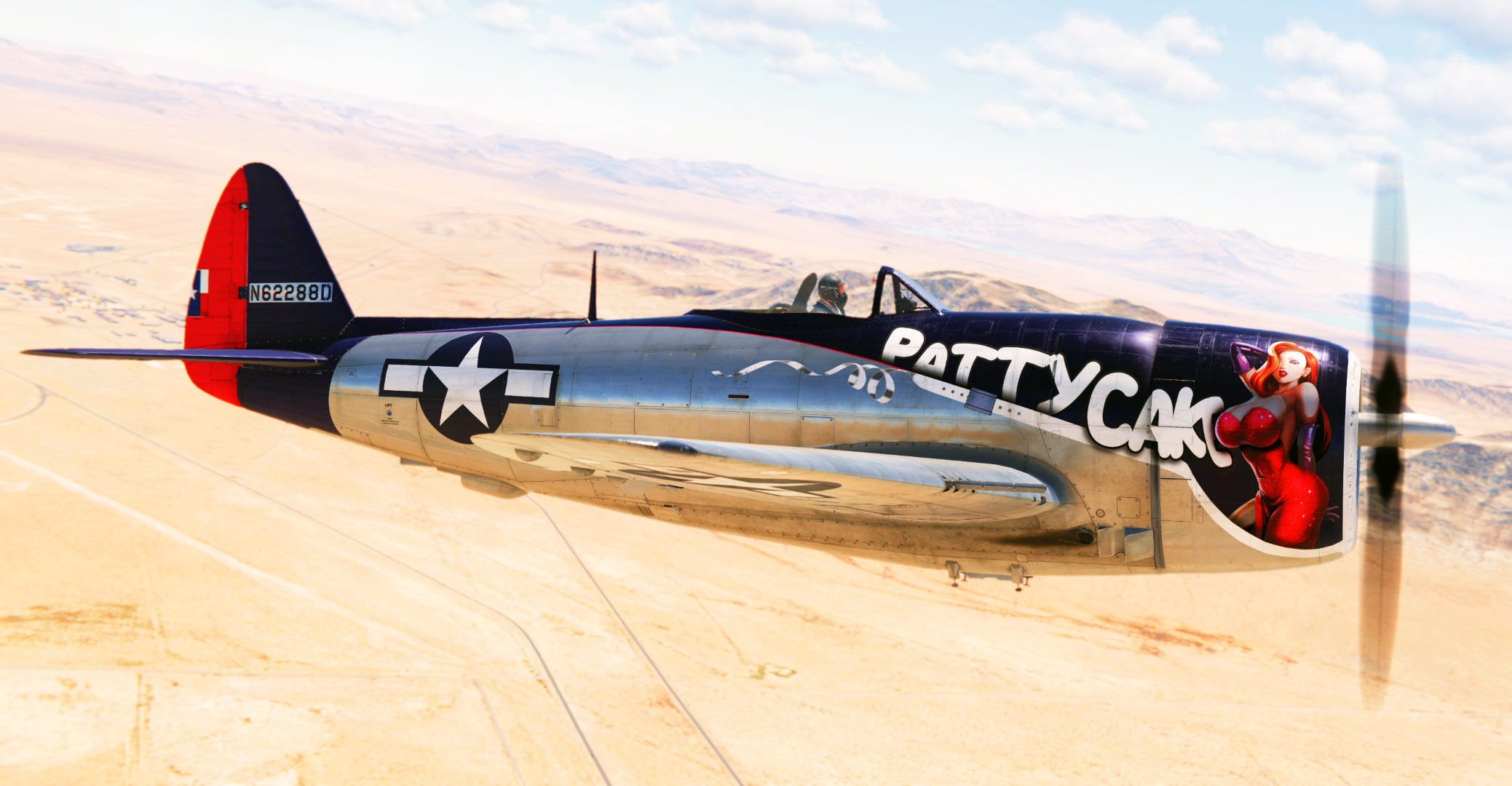 P-47D Art Livery - Patty Cake [Fictional]