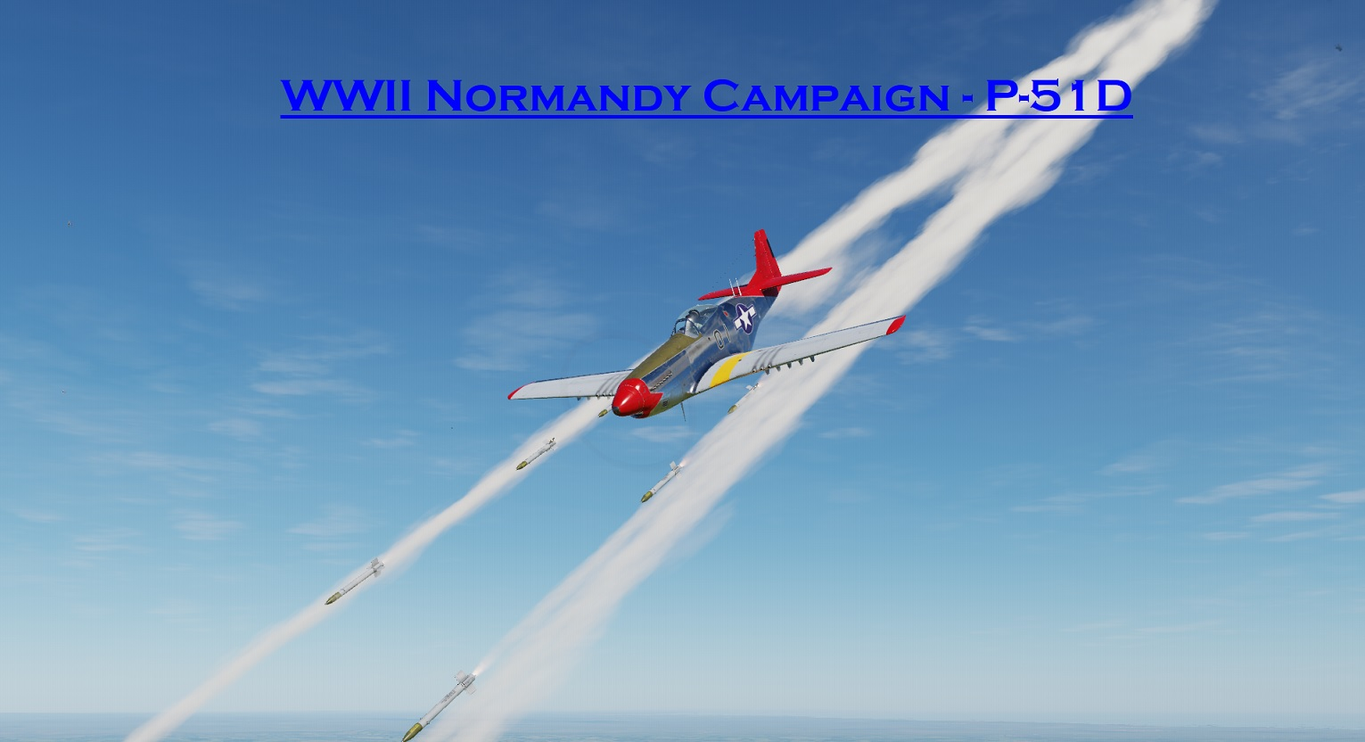 WWII Normandy P-51 using Mbot Dynamic Campaign Engine