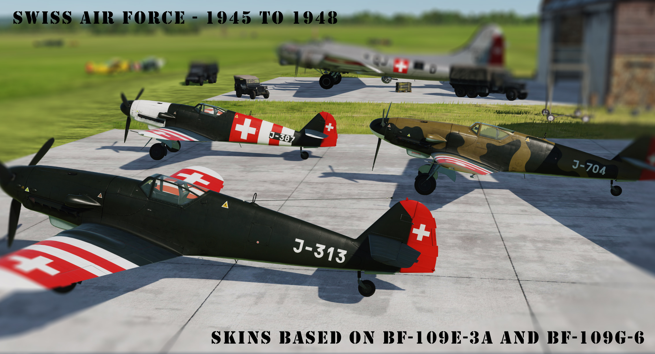 [Bf-109K-4] Swiss Air Force 1945 - 1948 v2