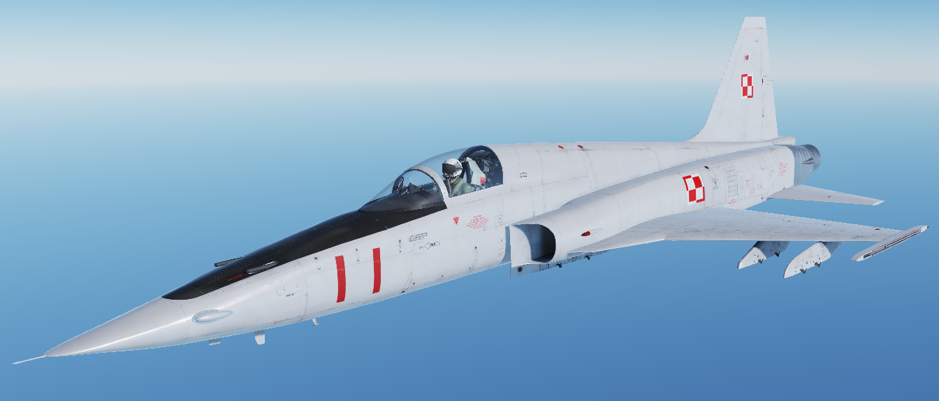 (Fictional) Poland Air Force F-5E-3 skin pack - TS-11 Iskra