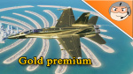Gold premium skin for F/A-18C Lot20