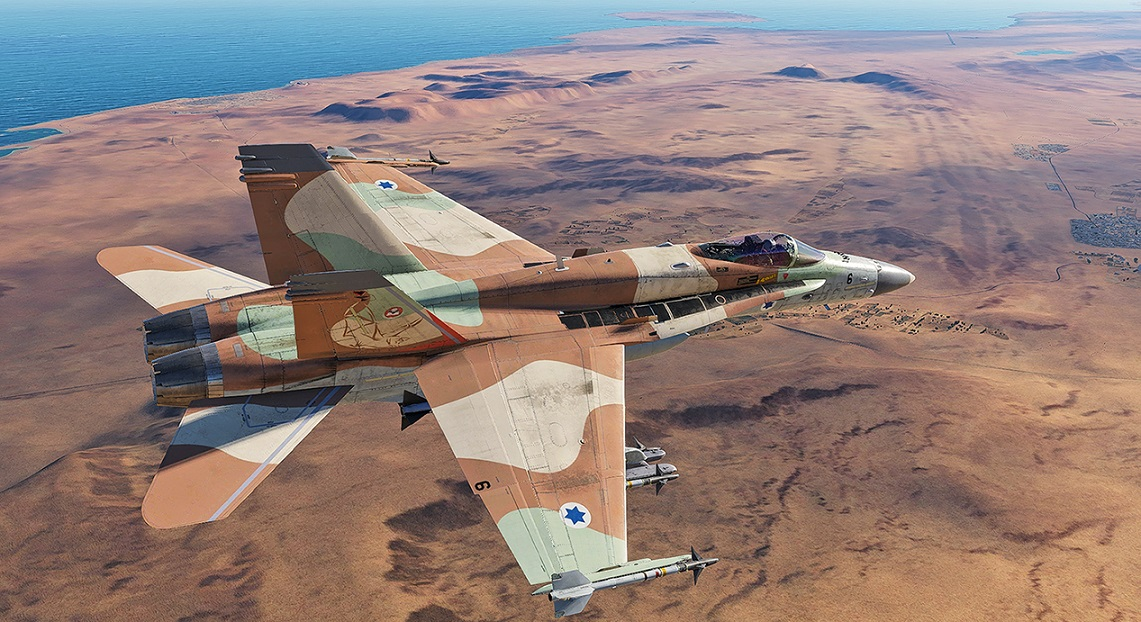 Fictional F/A-18C Israeli Air force Sufa  V01.2