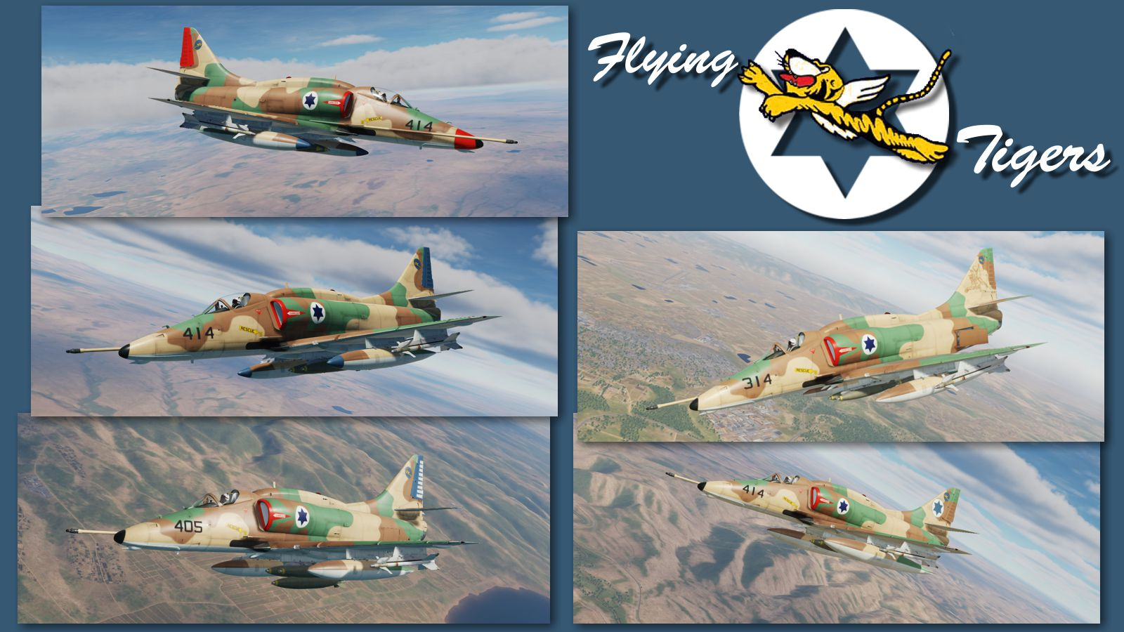 "A-4 Skyhawk ISRAELI AIR FORCE ""FLYING TIGERS"" Skinpack"
