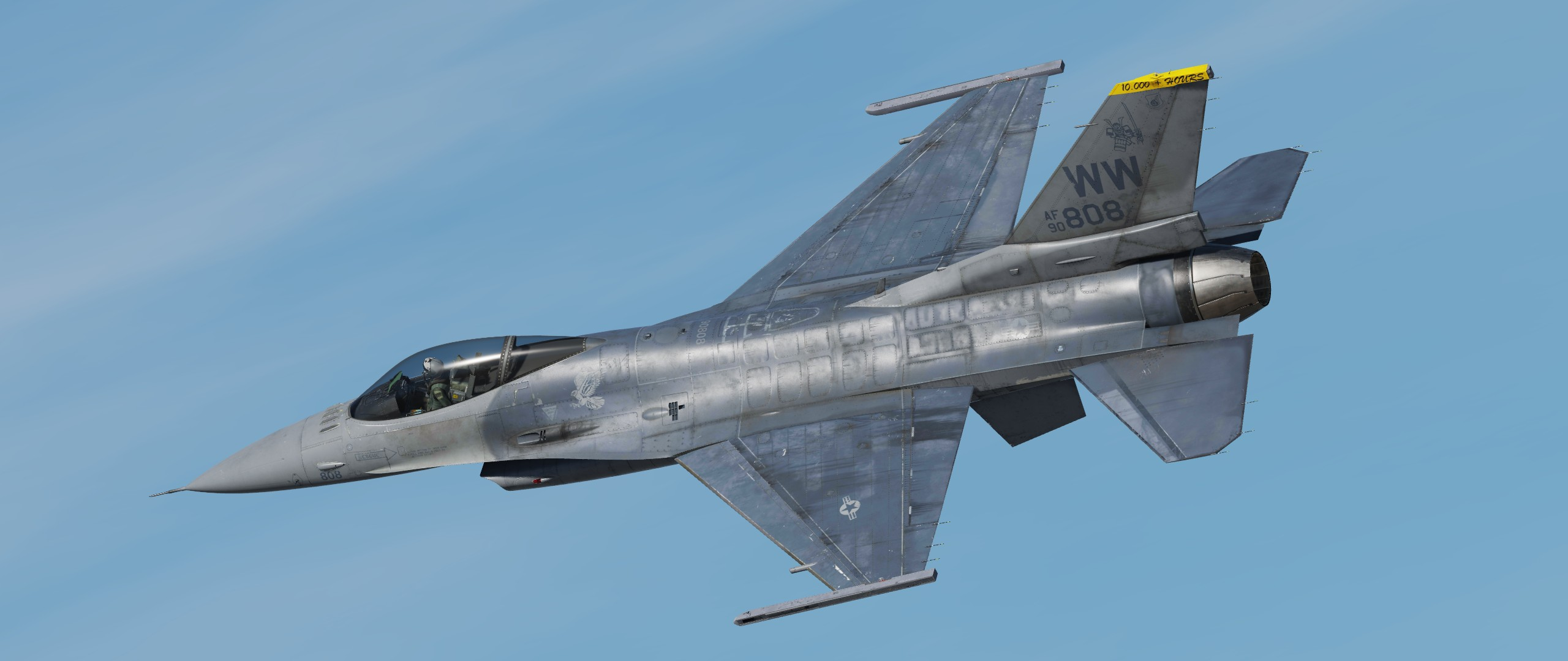 "F-16C, 14th FS, WW 90-808 -Ultra Weathered- ""BOB"" update v1.1"
