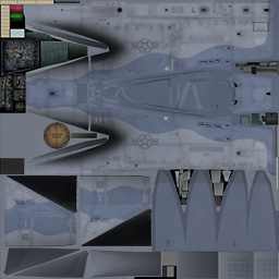Texture template of F-15C model