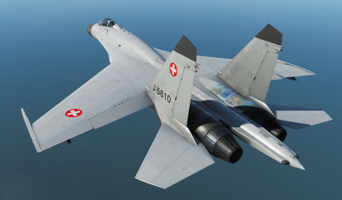 Su-27 Fictional Swiss Air Force Skin (DCS 2.5.3+)
