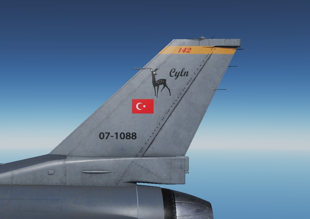 Turkish Air Force - 142. Ceylan Filo - Livery - V 1.8 - by AngrybirdTR