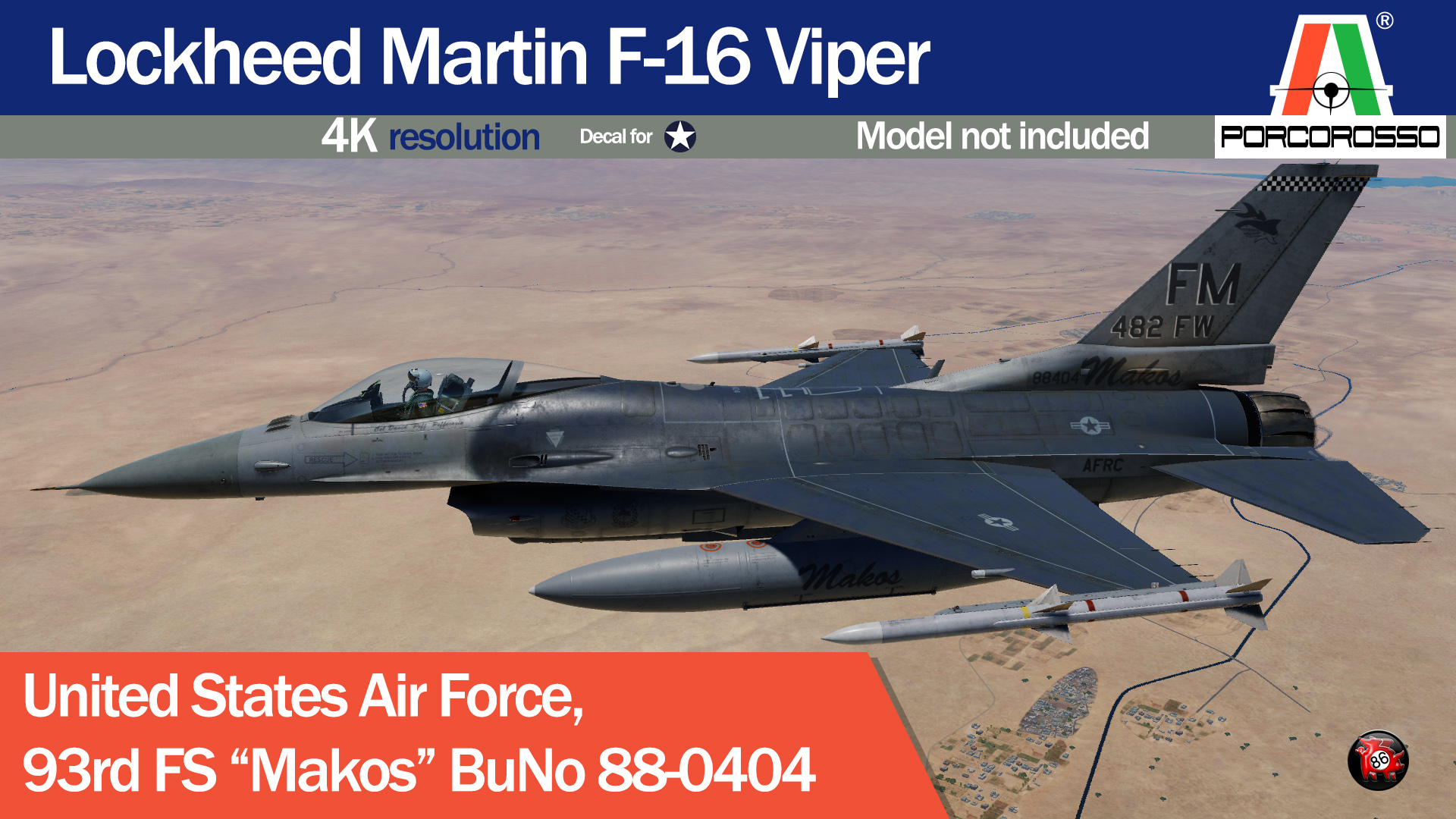 "USAF 93rd FS ""Makos"" Serial No. 88-0404 by PorcoRosso86 UPDATE"