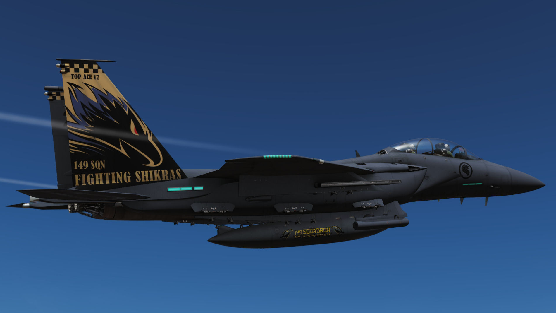 RSAF, 149th Squadron, 4x F15E ( fictional representing F-15SG's) Pack 3 of 3.