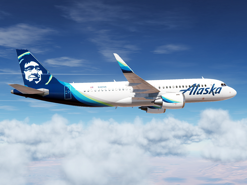 Alaska Airlines Airbus A320 (Modern Paint for Civil Aircraft Mod)