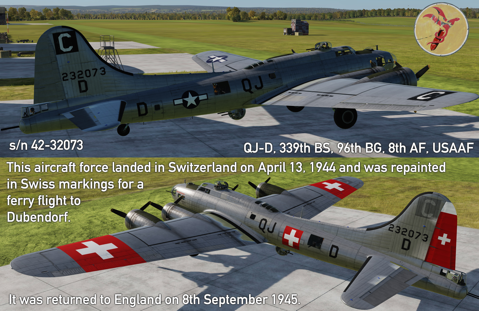 B-17G interned in Switzerland v3