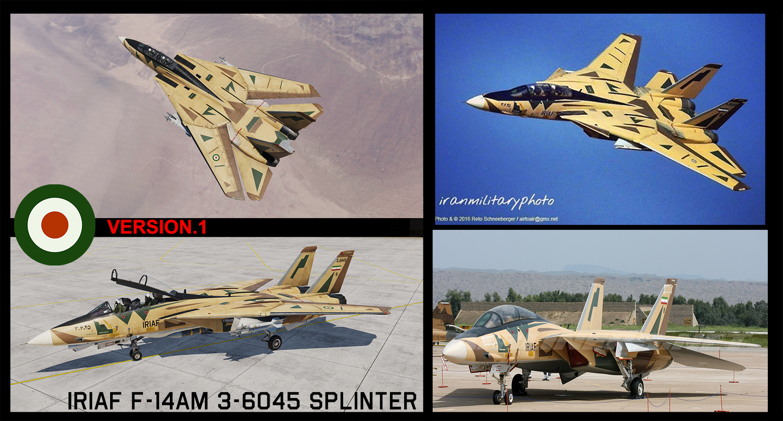 F-14B(AM) Splinter Camo IRIAF [3-6045] v.1.0