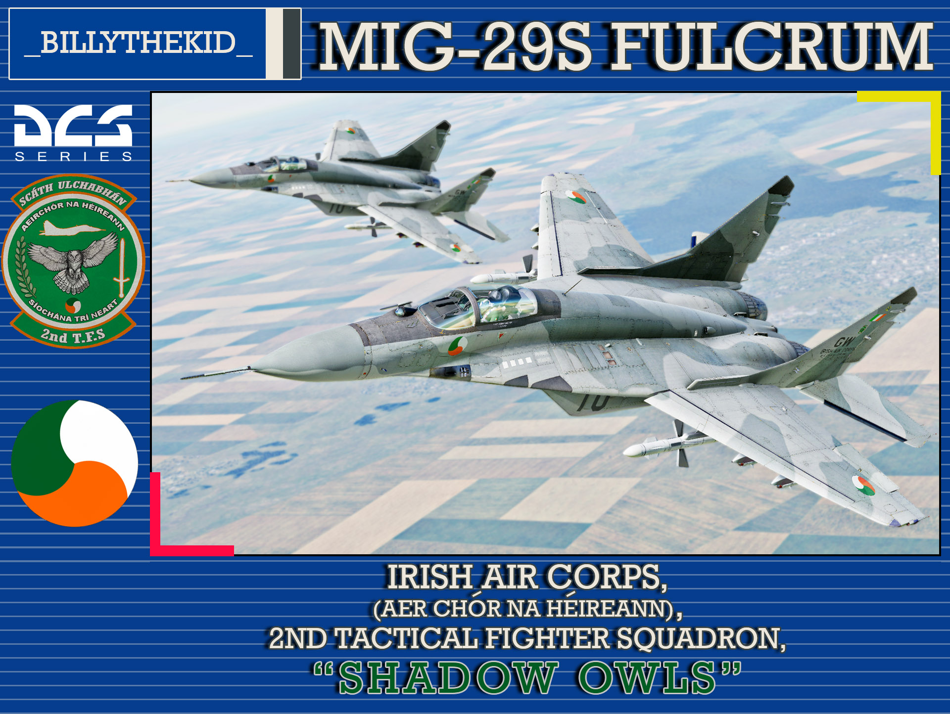 "Irish Air Corps 2nd Tactical Fighter Squadron ""Shadow Owls"" MiG-29S Fulcrum"