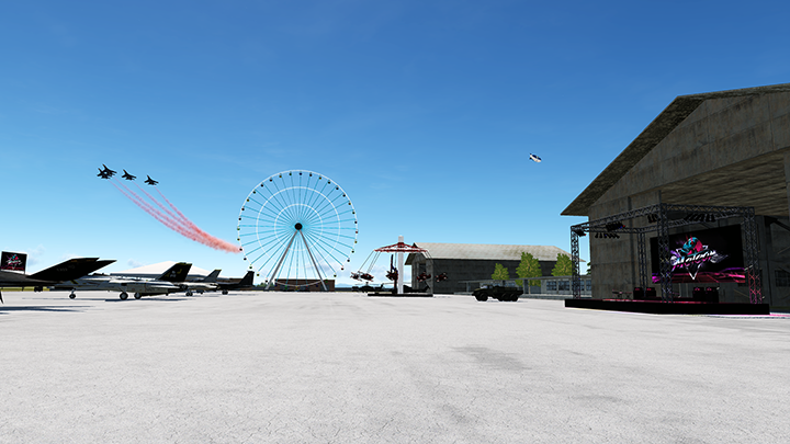 GrinnelliDesigns Air Show Scenery